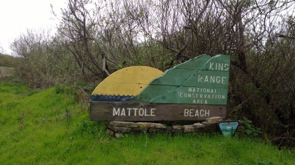 Northern trailhead of the Lost Coast near mouth of the Mattole River